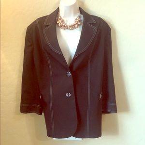 NWT TanJay Black Jacket/Blazer Size 16